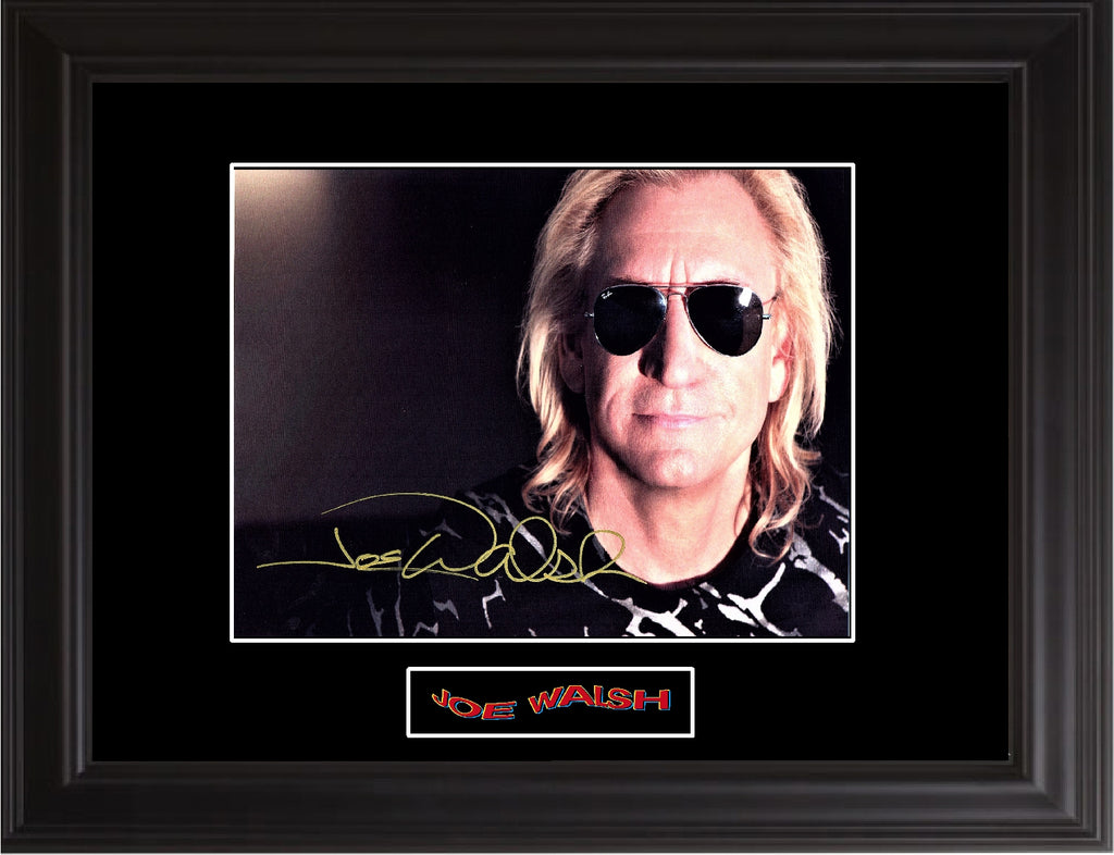 Joe Walsh Autographed Photo - Zion Graphic Collectibles