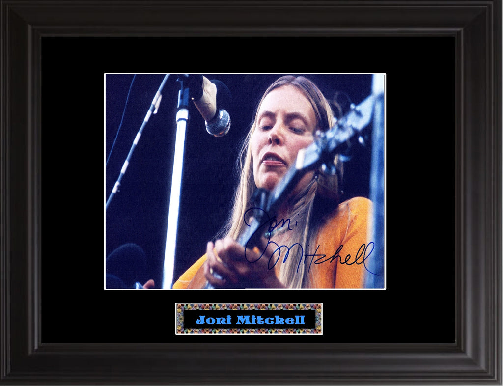 Joni Mitchell Autographed Photo - Zion Graphic Collectibles