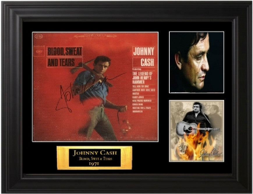 "Johnny Cash Autographed Lp ""Blood, Sweat, and Tears"""