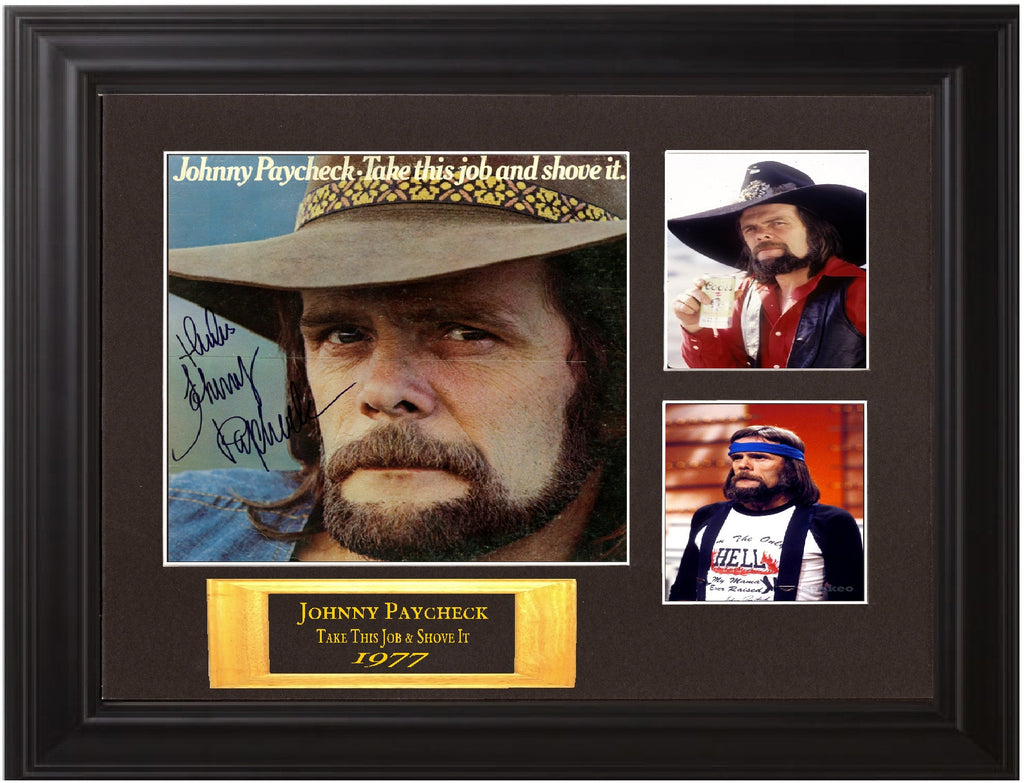 Johnny Paycheck autographed lp - Zion Graphic Collectibles