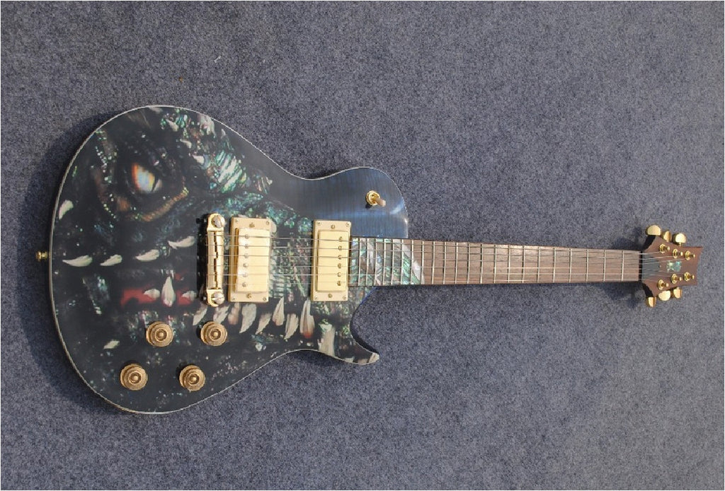 Jurasic Custom Guitar - Zion Graphic Collectibles