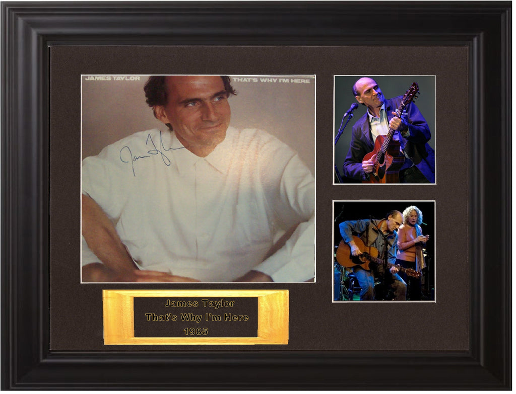 James Taylor Autographed  lp - Zion Graphic Collectibles