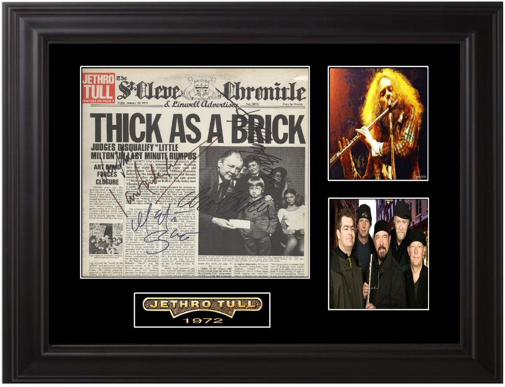 Jethro Tull Band Signed Thick As A Brick Album - Zion Graphic Collectibles
