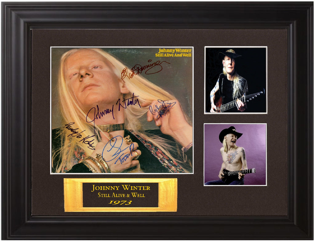 Johnny Winter Autographed lp - Zion Graphic Collectibles