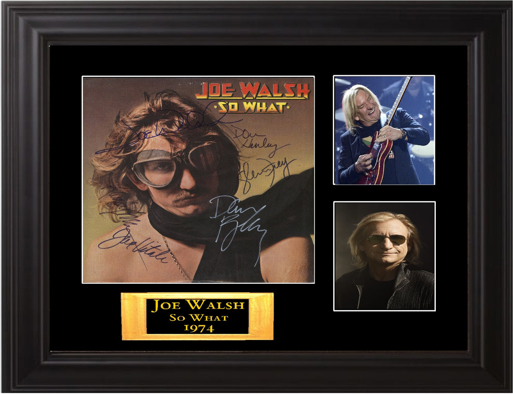 Joe Walsh Band Signed So What Album - Zion Graphic Collectibles