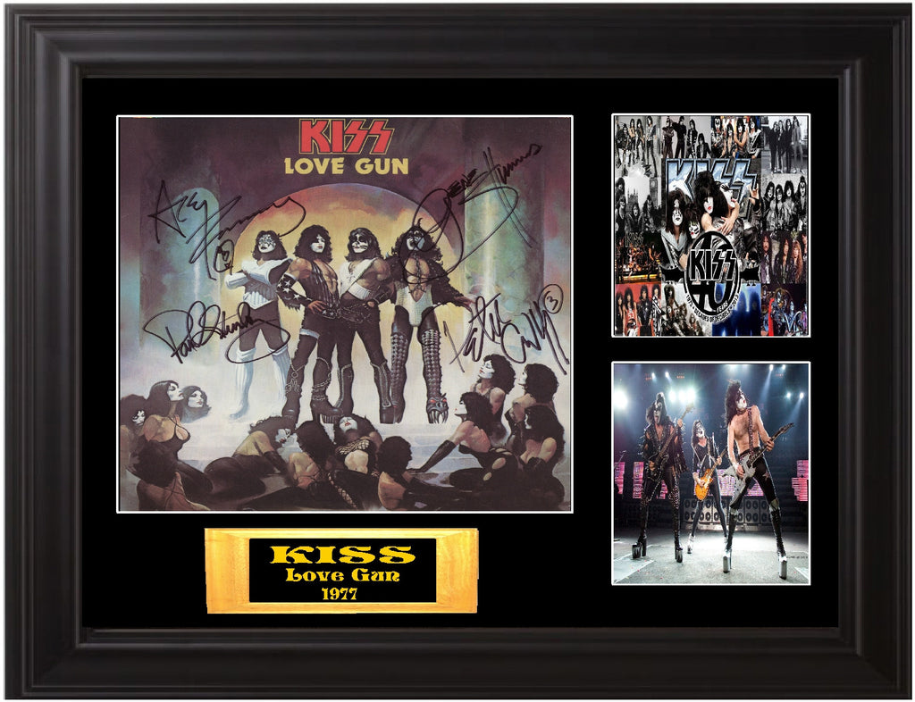 Kiss Autographed lp Love Gun