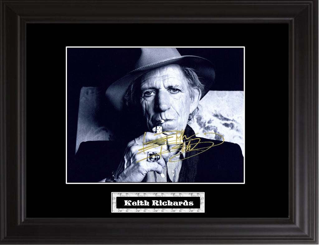 Keith Richards Autographed Photo - Zion Graphic Collectibles