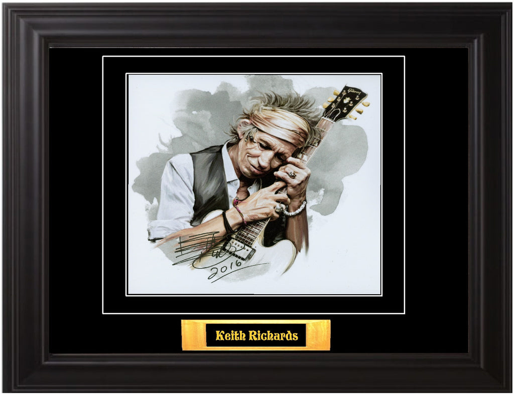 Keith Richards Autographed Photo