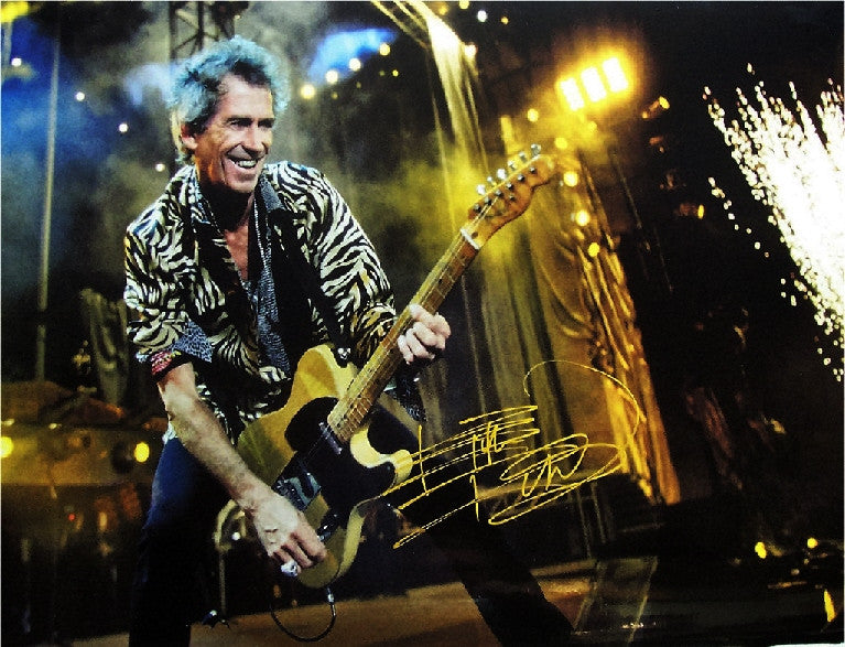 Keith Richards Autographed poster - Zion Graphic Collectibles