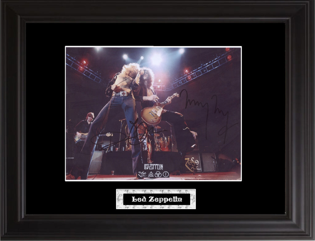 Led Zeppelin Autographed Photo - Zion Graphic Collectibles