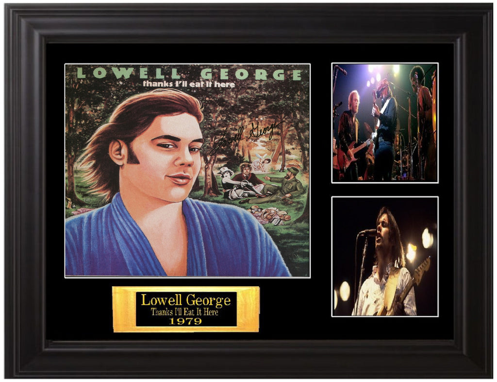 Lowell George Autographed lp - Zion Graphic Collectibles