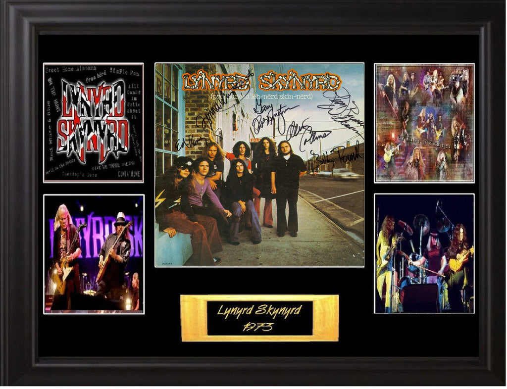 Lynyrd Skynyrd Autographed lp - Zion Graphic Collectibles