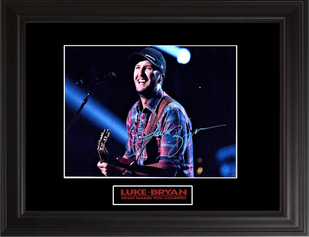 Luke Bryan Autographed Photo - Zion Graphic Collectibles