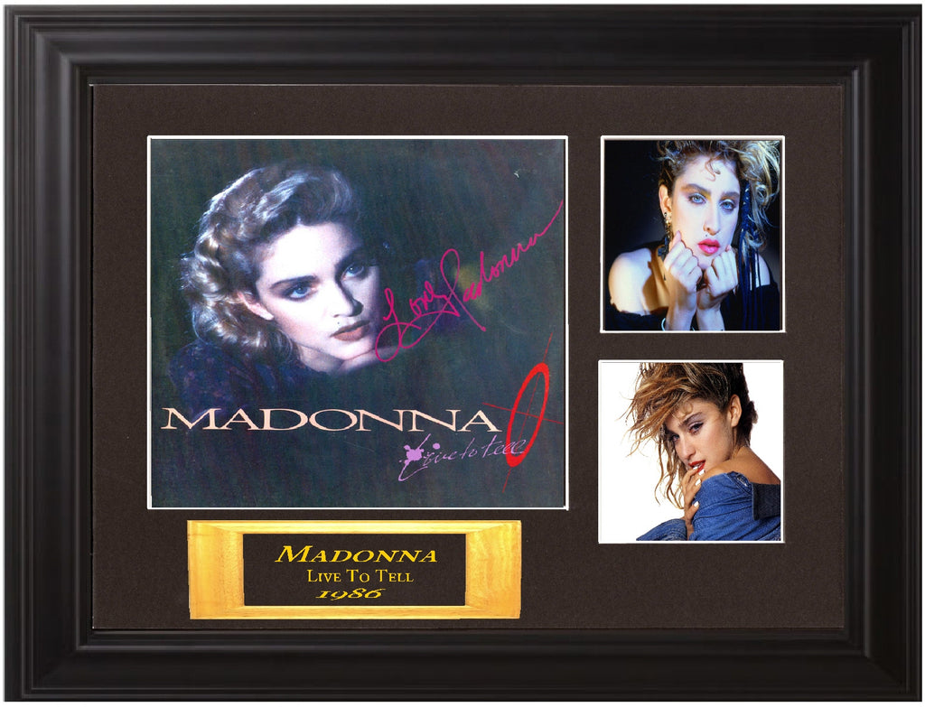 Madonna Autographed lp - Zion Graphic Collectibles