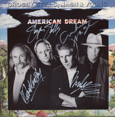 Crosby, Stills, Nash and Young Autographed Lp