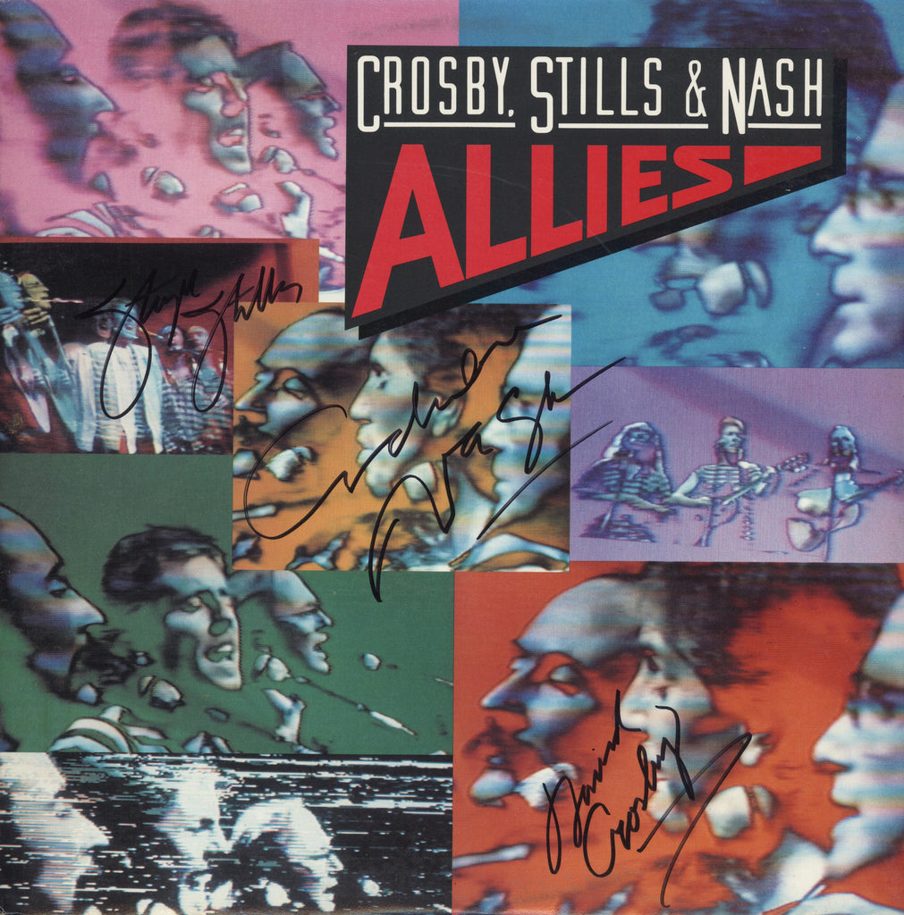 Crosby Stills & Nash Autographed lp - Zion Graphic Collectibles