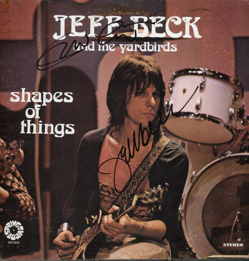 Jeff Beck Autographed lp - Zion Graphic Collectibles