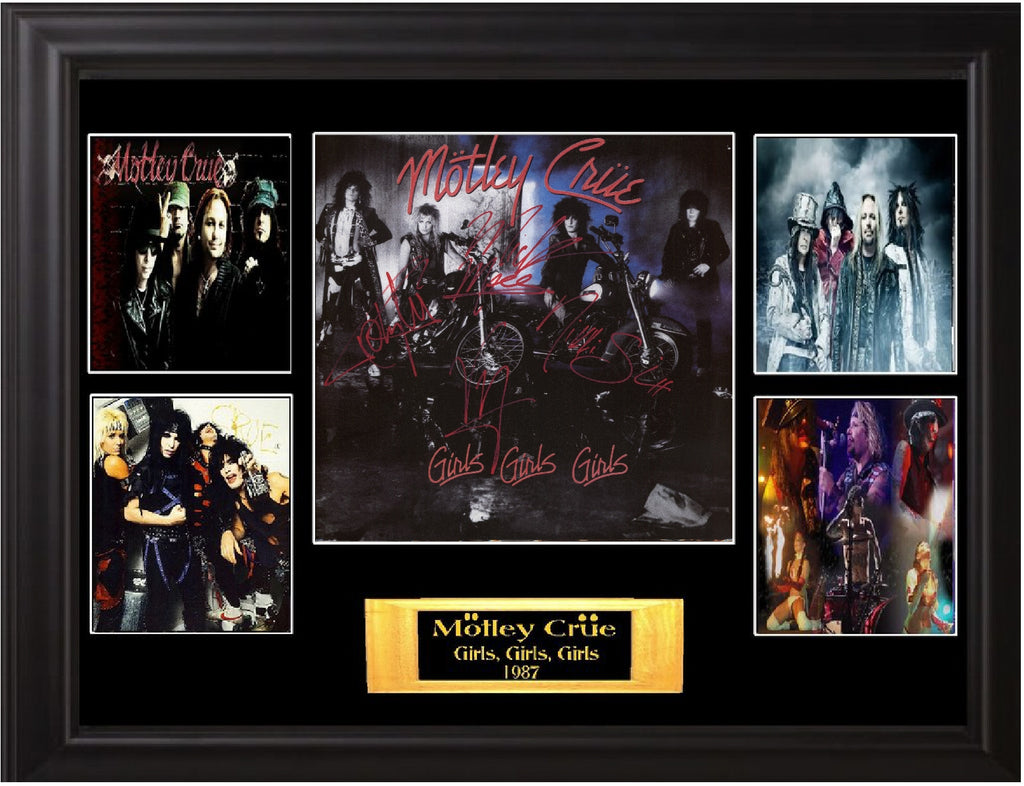 Motley Crue Autographed Lp Girls, Girls, Girls - Zion Graphic Collectibles