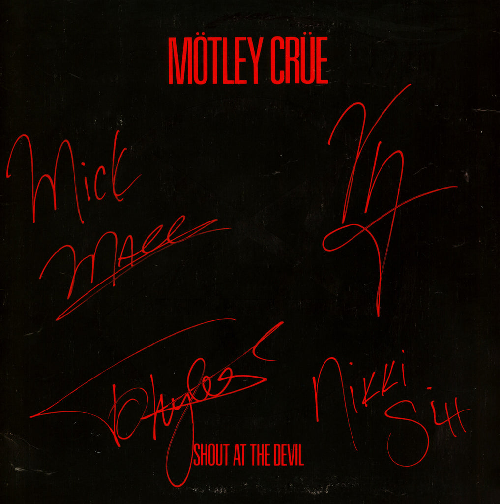 "Motley Crue Autographed LP ""shout at the devil""  lp - Zion Graphic Collectibles"