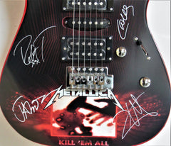 "Metallica - Band Autographed Electric Guitar "" Kill Em All """