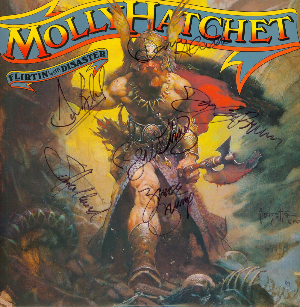 Molly Hatchet Autographed lp