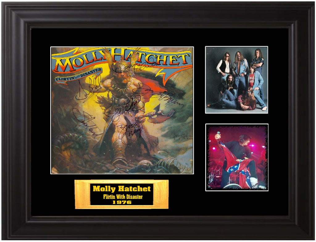 Molly Hatchet Autographed lp - Zion Graphic Collectibles