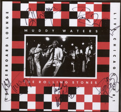 Muddy Waters / Rolling Stones Autographed LP cover - Zion Graphic Collectibles