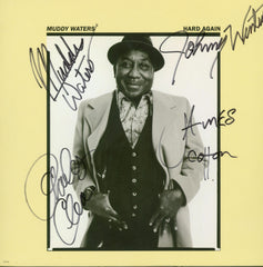 Muddy Waters Band Signed Hard Again Album - Zion Graphic Collectibles