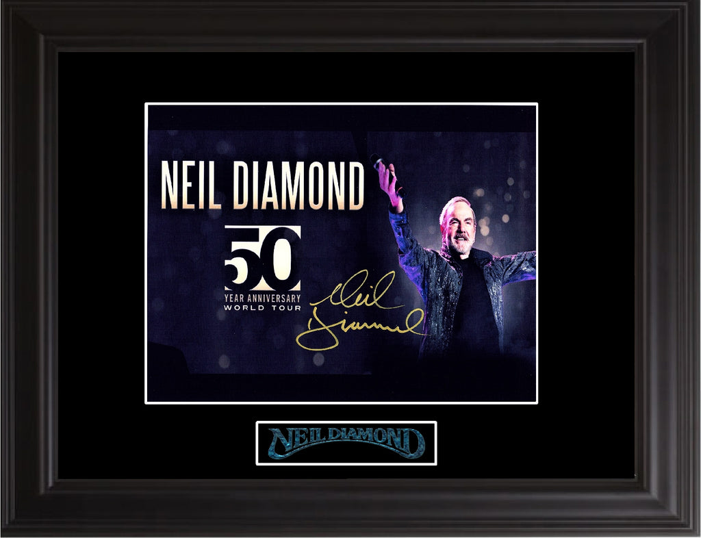 Neil Diamond Autographed 50th Anniversary tour  Photo - Zion Graphic Collectibles
