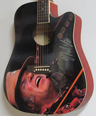 Neil Young Autographed Guitar - Zion Graphic Collectibles