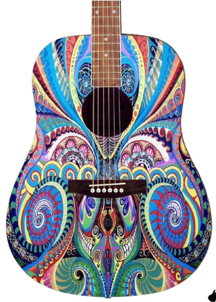 Custom Acoustic Guitar - Zion Graphic Collectibles