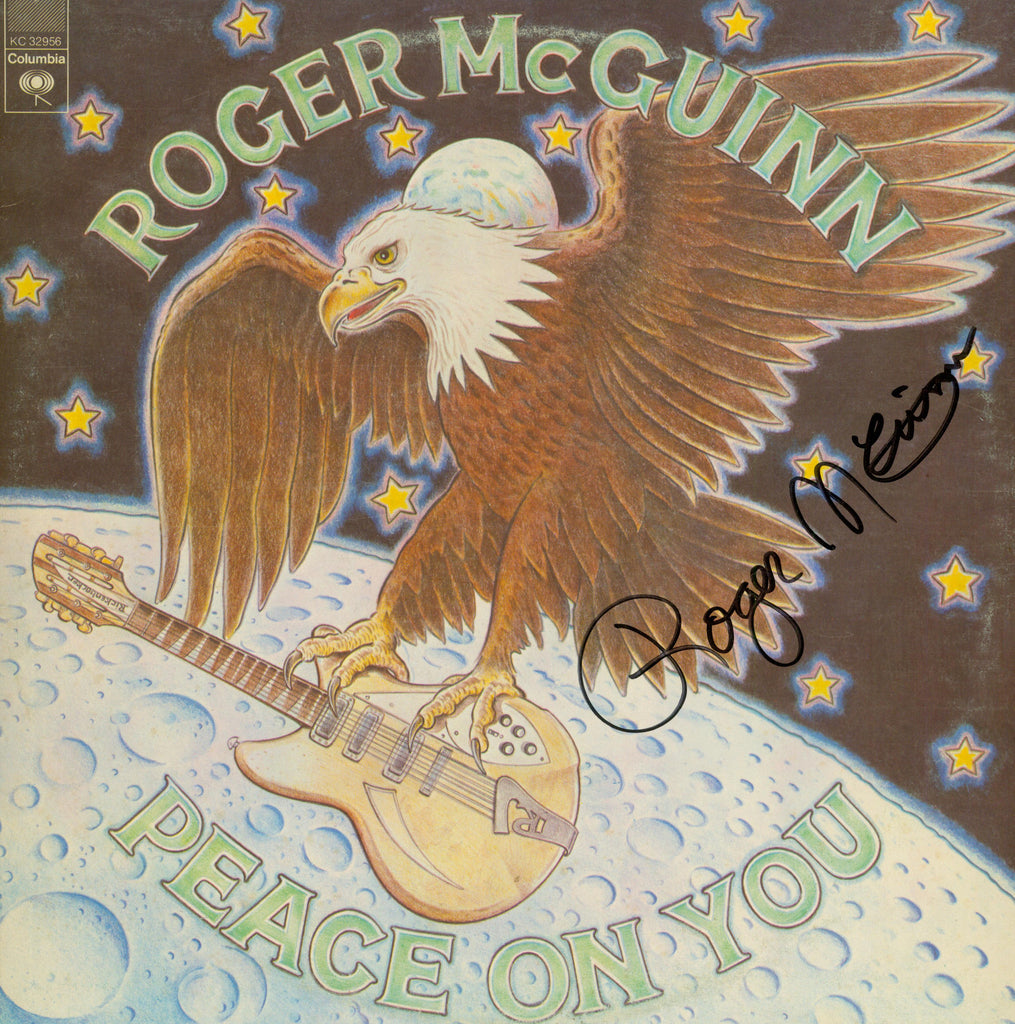 Roger McGuinn Autographed lp - Zion Graphic Collectibles