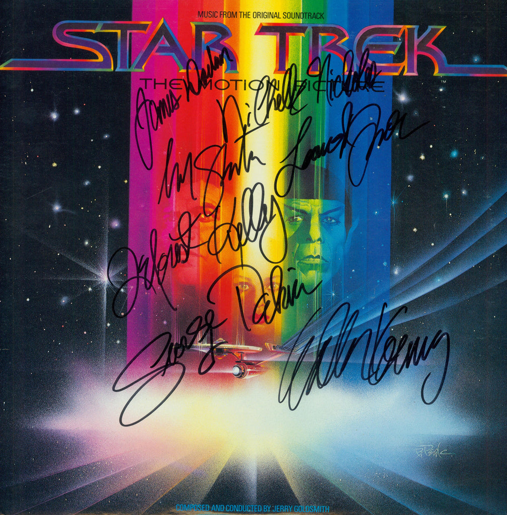 Star Trek The Motion Picture Cast Signed by 7 Movie Soundtrack - Zion Graphic Collectibles