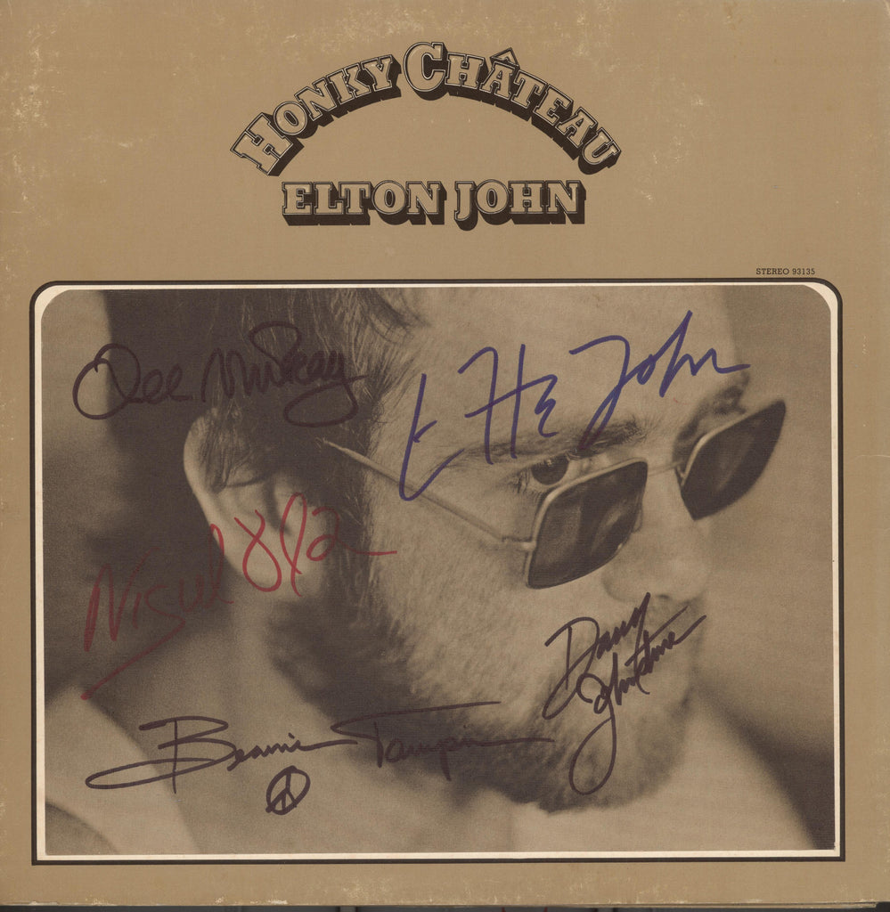Elton John Autographed lp - Zion Graphic Collectibles