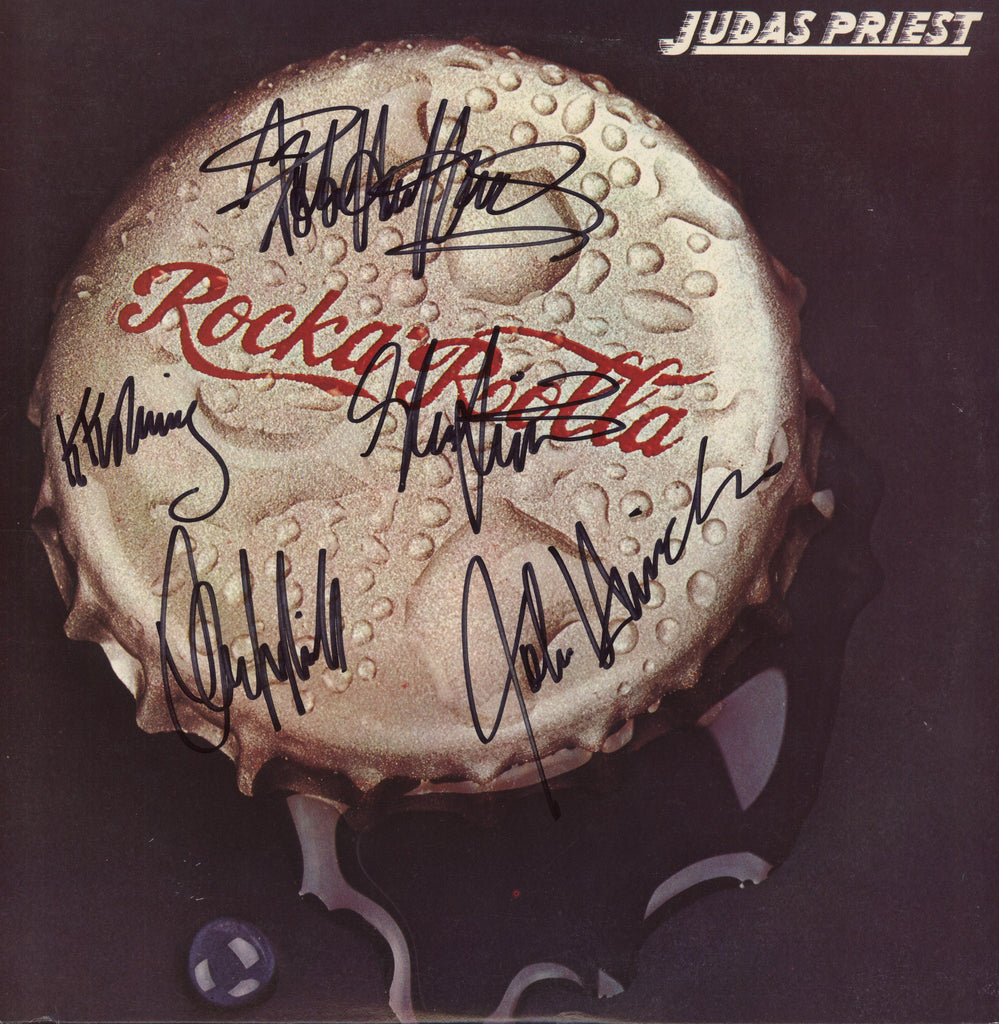 Judas Priest Autographed lp - Zion Graphic Collectibles