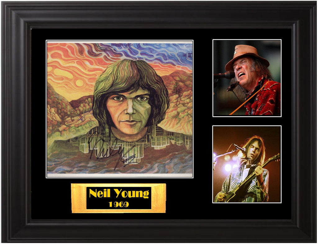 Neil Young Autographed LP - Zion Graphic Collectibles