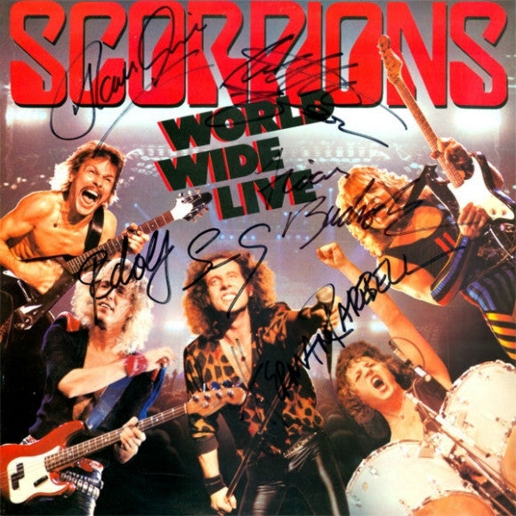 Scorpions Band Signed World Wide Live Album - Zion Graphic Collectibles