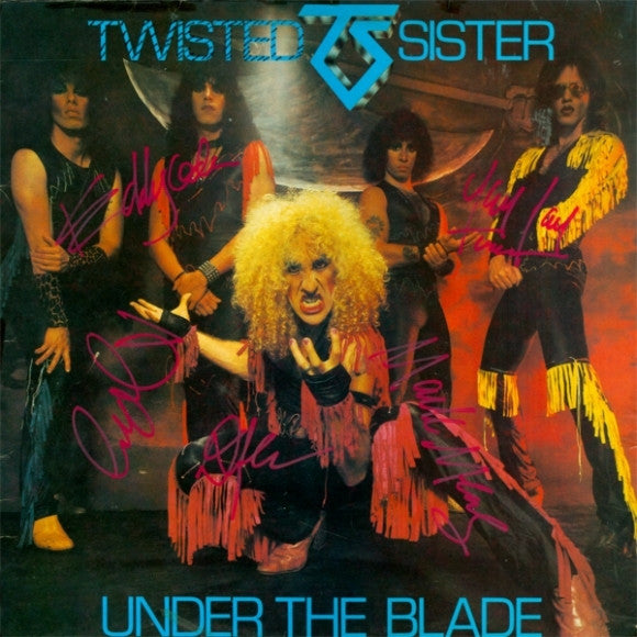 Twisted Sister Band Signed Under The Blade Album