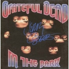 Grateful Dead Jerry Garcia Signed In The Dark Album