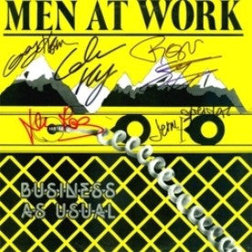 Men At Work Band Signed Business As Usual Album - Zion Graphic Collectibles
