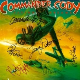 Commander Cody & His Lost Planet Airmen Band Signed lp - Zion Graphic Collectibles