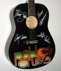 Pablo Cruise Autographed guitar - Zion Graphic Collectibles
