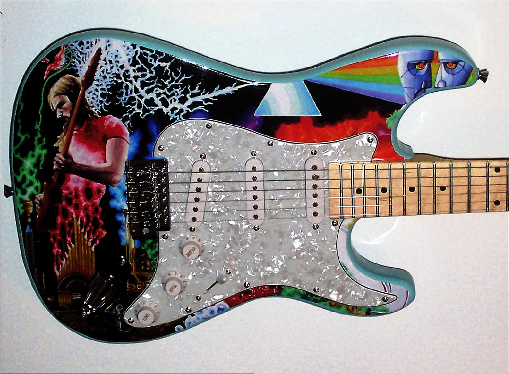Pink Floyd Custom Sawtooth Stratocaster - Zion Graphic Collectibles