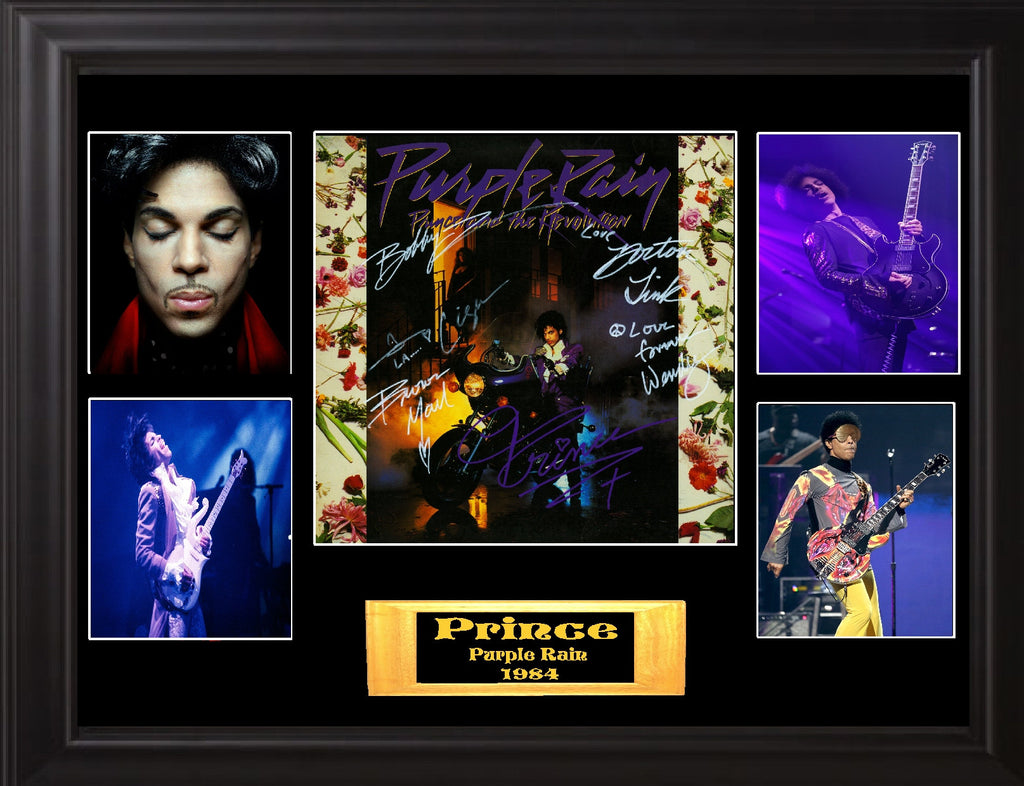 "Prince and the Revolution Autographed Lp ""Purple Rain"" - Zion Graphic Collectibles"