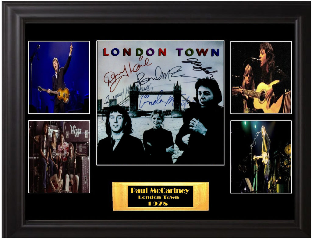 Paul McCartney Wings Band Signed London Town Album - Zion Graphic Collectibles