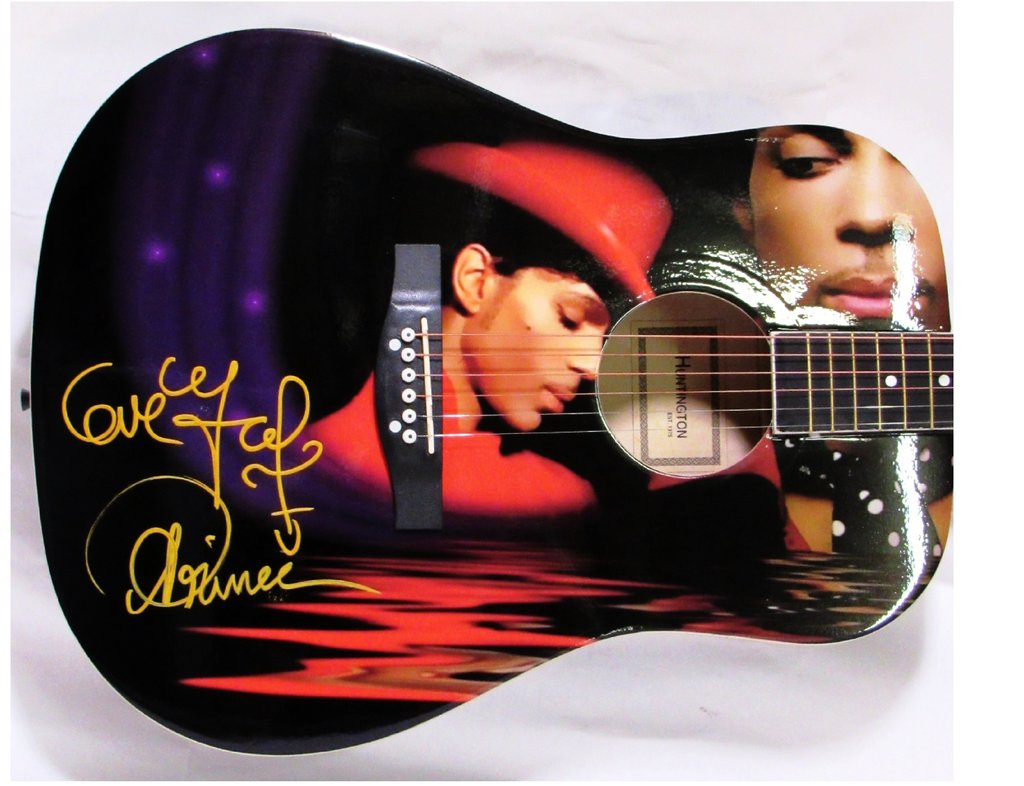 Prince Autographed Guitar - Zion Graphic Collectibles