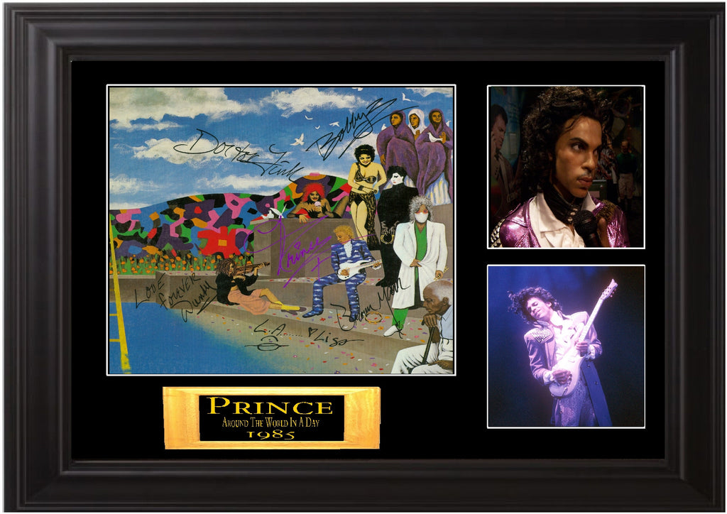 "Prince and the Revolution Autographed Lp ""Around the World in a Day"" - Zion Graphic Collectibles"
