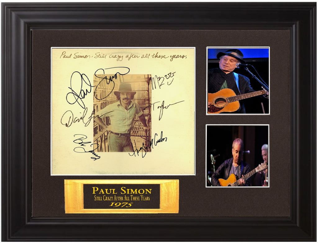 Paul Simon Band Signed still crazy Album - Zion Graphic Collectibles
