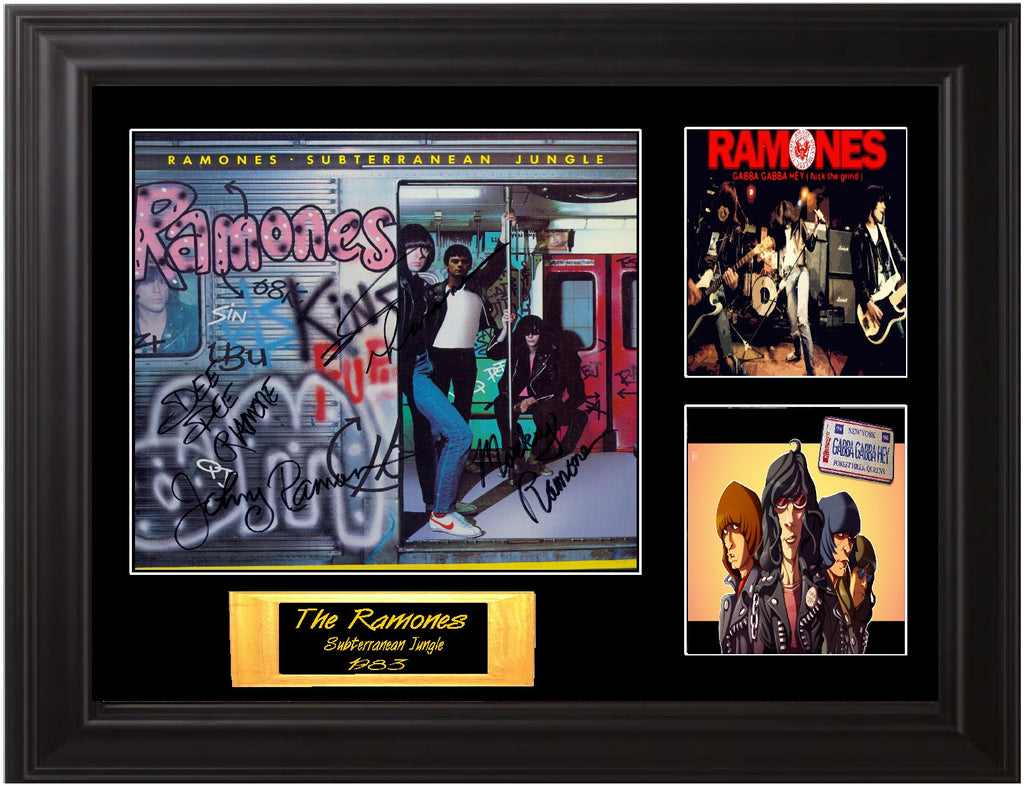 The Ramones Autographed Lp - Zion Graphic Collectibles