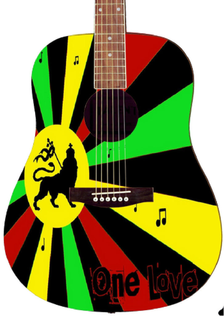 Rasta Custom Guitar - Zion Graphic Collectibles